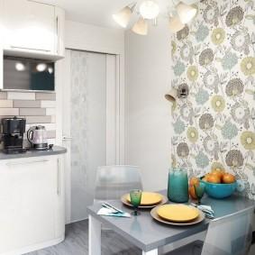 обои на маленькую кухню дизайн фото
