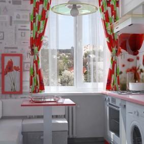 обои на маленькую кухню фото