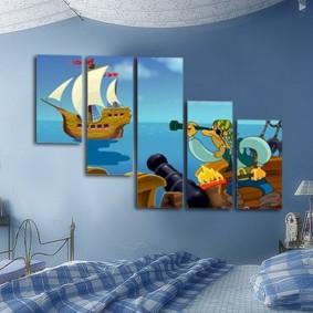 обои в детской комнате фото декора