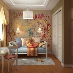 обои в детской комнате декор идеи