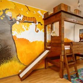 обои в детской комнате идеи декор