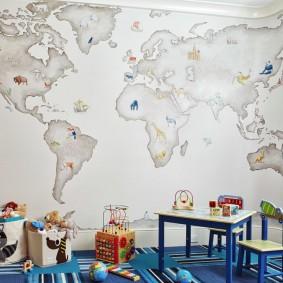 обои в детской комнате фото интерьер