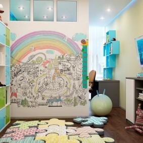 обои в детской комнате фото дизайн
