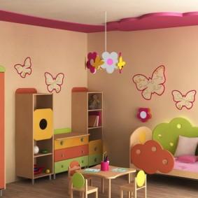 обои в детской комнате фото дизайна