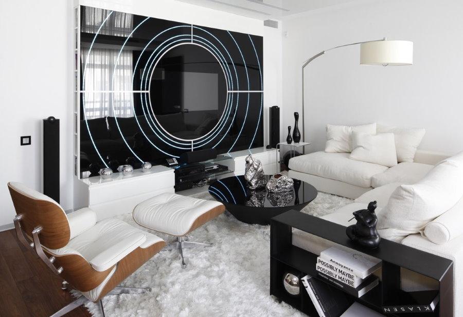 Декор однокомнатной квартиры в стиле хай-тек