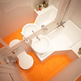 оформление раковины над ванной