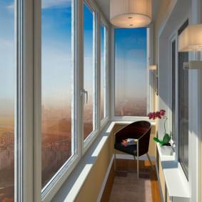 остекление балконов и лоджий фото идеи