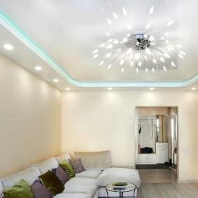 освещение для натяжных потолков фото интерьера