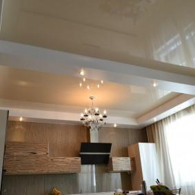 освещение для натяжных потолков варианты фото