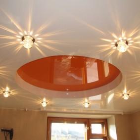 освещение для натяжных потолков варианты идеи