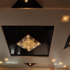 освещение для натяжных потолков виды дизайна