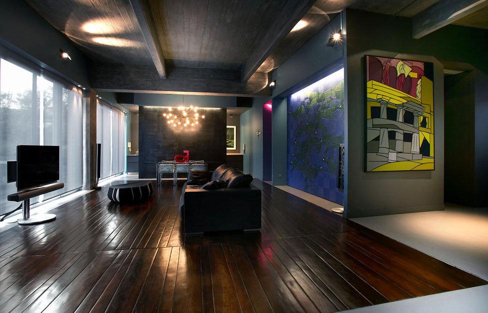 Освещение квартиры убежденного холостяка