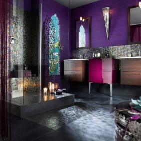 отделка пола в ванной комнате идеи дизайн