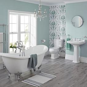 отделка пола в ванной комнате фото декора