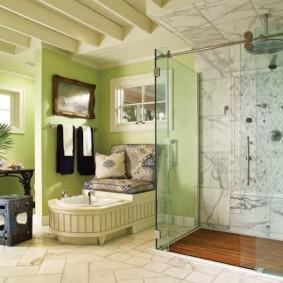 отделка пола в ванной комнате декор идеи