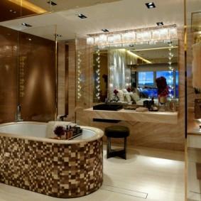 отделка пола в ванной комнате фото интерьер