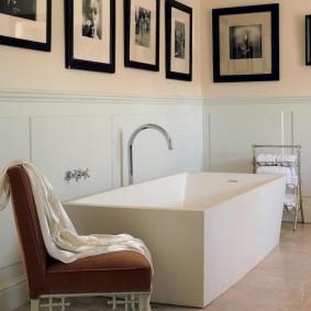 отделка пола в ванной комнате идеи дизайна