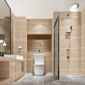 отделка пола в ванной комнате фото интерьера
