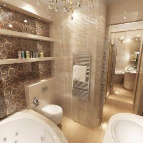 отделка пола в ванной комнате интерьер идеи