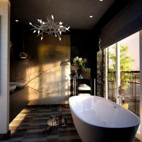 отделка пола в ванной комнате идеи интерьера