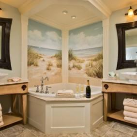 отделка пола в ванной комнате фото оформления