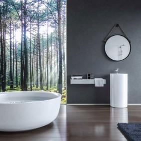 отделка пола в ванной комнате оформление идеи