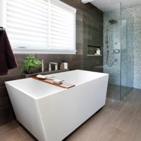 отделка пола в ванной комнате интерьер фото