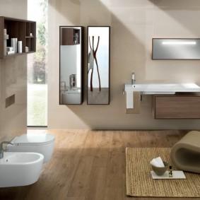 отделка пола в ванной комнате варианты