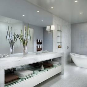 отделка пола в ванной комнате варианты фото