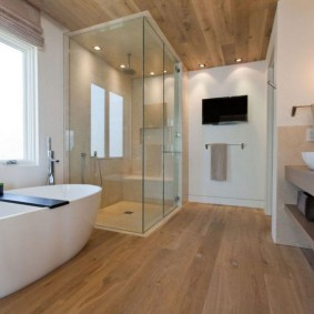 отделка пола в ванной комнате фото вариантов