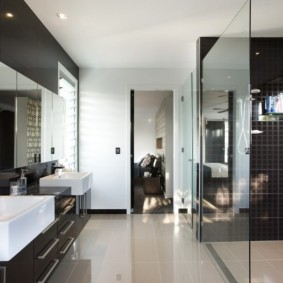 отделка пола в ванной комнате фото виды