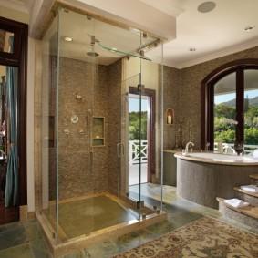 отделка пола в ванной комнате фото идеи