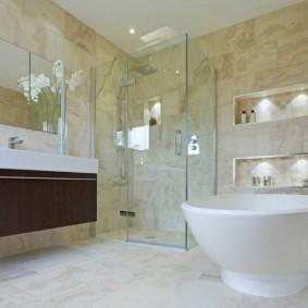 отделка пола в ванной комнате идеи виды