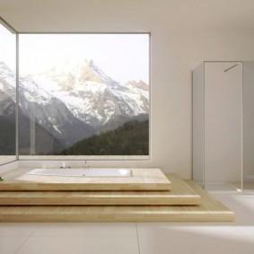отделка пола в ванной комнате виды дизайна