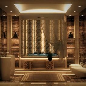 отделка пола в ванной комнате дизайн