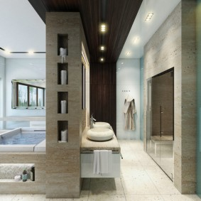 отделка пола в ванной комнате дизайн фото
