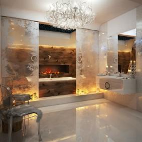 отделка пола в ванной комнате фото дизайн