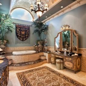 отделка пола в ванной комнате дизайн идеи