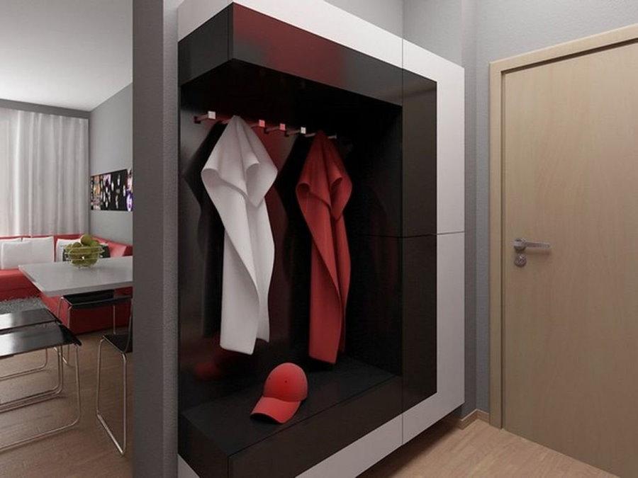 Стильная мебель в прихожей квартиры студии