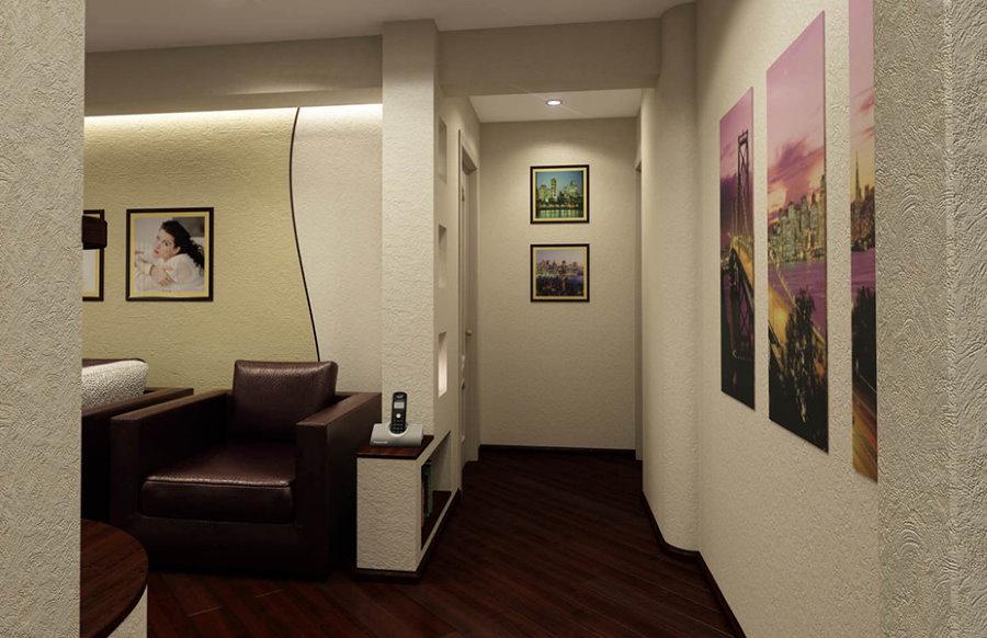Темный пол в коридоре квартиры