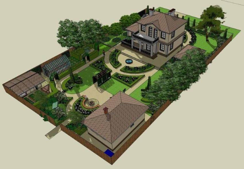 Проект застройки небольшого загородного участка