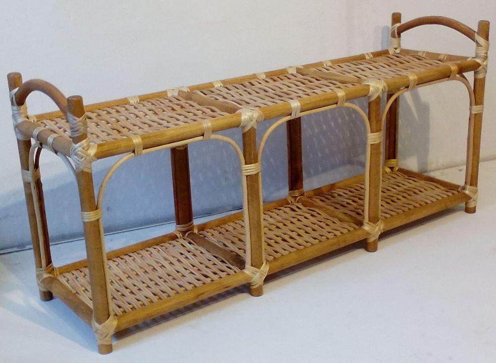 плетеные скамейки для прихожей