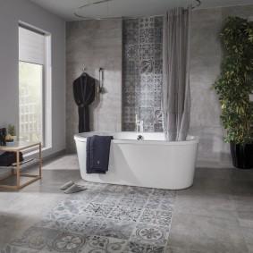 плитка керамогранит в ванной