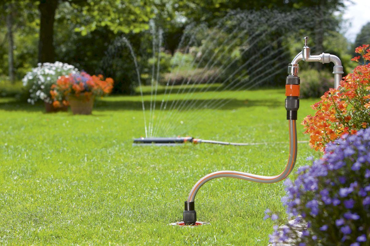 полив в саду