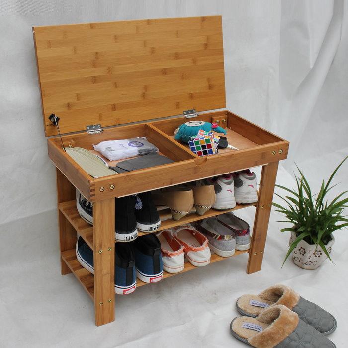 Напольная обувная полка с местом для хранения мелких вещей