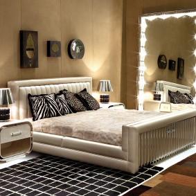 прикроватные тумбочки для спальни фото декор