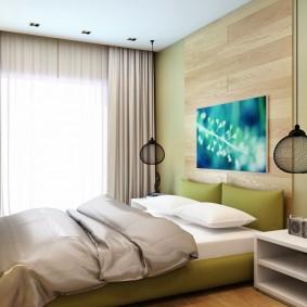 прикроватные тумбочки для спальни интерьер фото