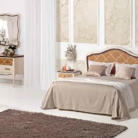 прикроватные тумбочки для спальни фото интерьера