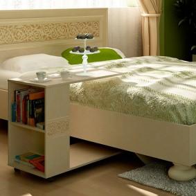 прикроватные тумбочки для спальни оформление