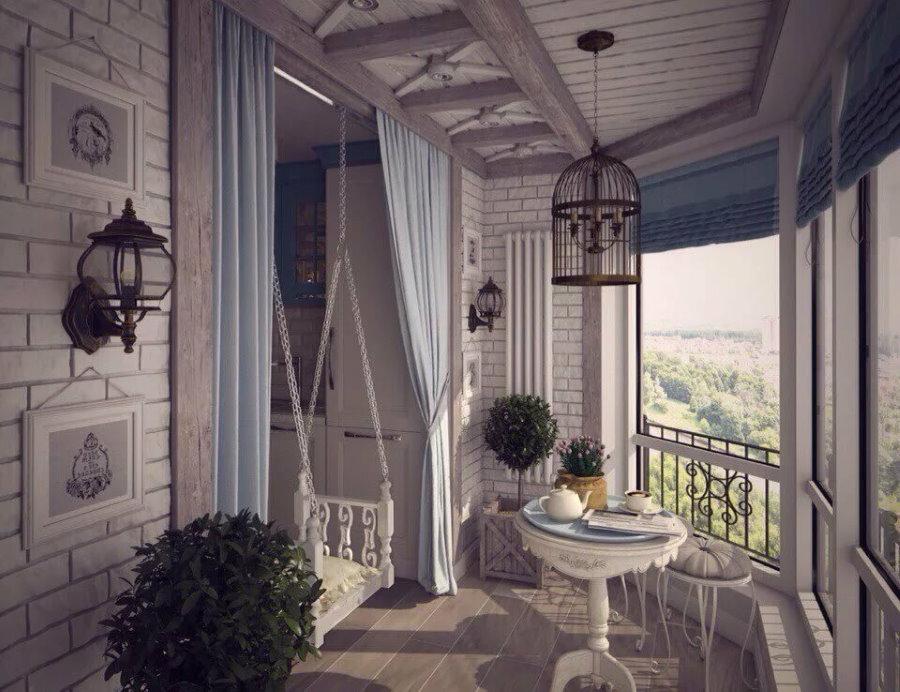 Прованс в интерьере балконного помещения